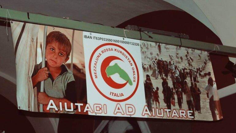 Inaugurazione della Mezzaluna Rossa Kurdistan a Livorno