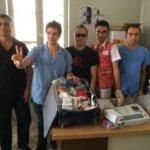 8 settembre 2015 - Conclusa l'attività dell'ultima Staffetta Sanitaria e consegnato l'elettrocardiografo all'ambulatorio di Mezzaluna Rossa Kurda a Kobane